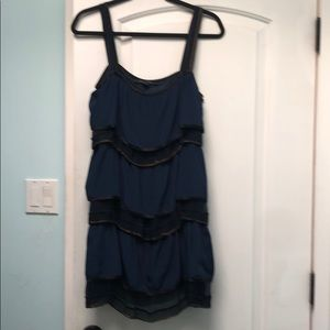 Marc Jacobs navy & black chain detail dress sz 8